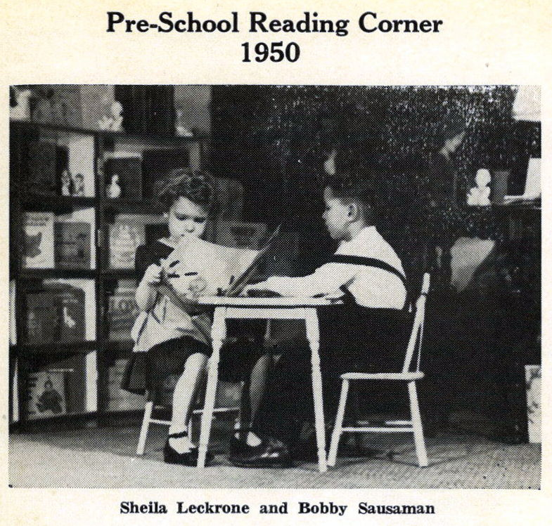 1950 - Reading Corner Sheila Leckrone & Bobby Sausaman