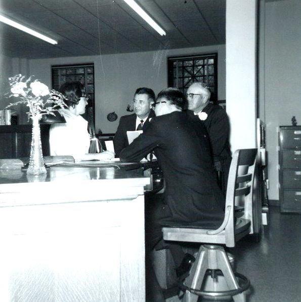 Mrs. Robert Zellers, Harold Groninger, Clair Ellis, Randall Leininger