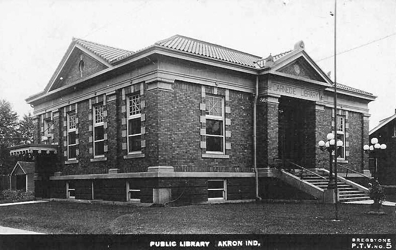 Akron Carnegie Public Library old building
