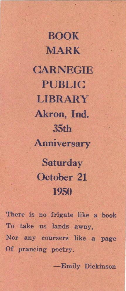 1950 Bookmark