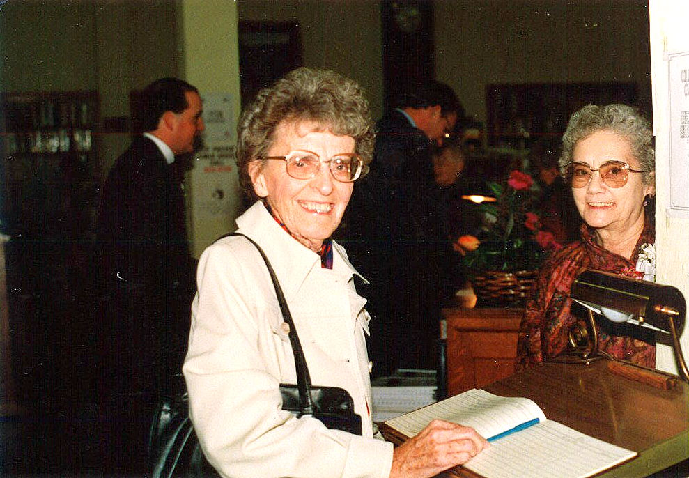 Faye (Pontius) Zellers & Director Velma Bright